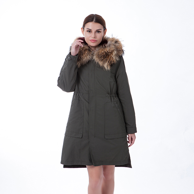 Army green color winter outwear