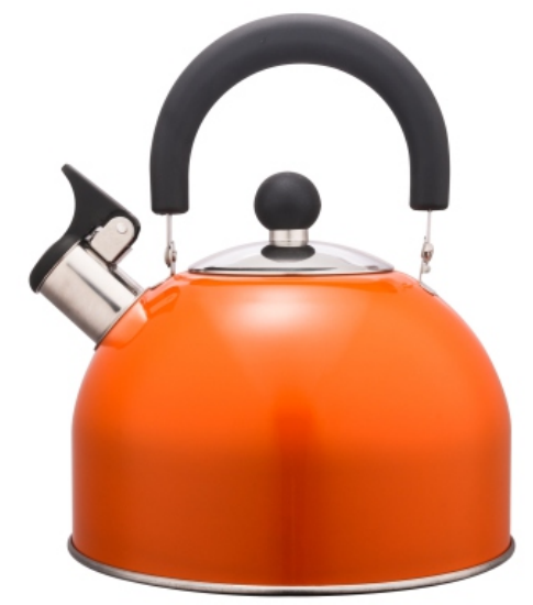 KHK002 3.5L Stainless Steel color painting Teakettle orange color