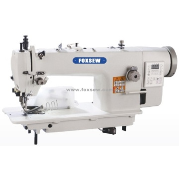 Direct Drive Auto-Trimmer Top and Bottom Feed Lockstitch Machine with Rear Cutter and Tape Binder