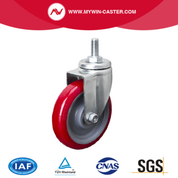 Light 4 Inch 80Kg Threaded Swivel TPU Caster
