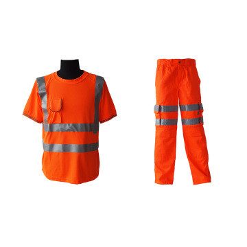 High visibility work suits for industrial workers
