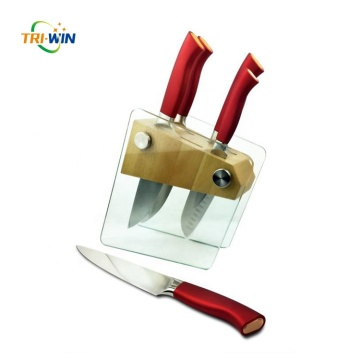 Chef carving bread boning paring knife set