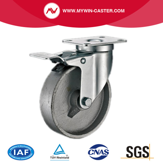 Plate Swivel Medium Duty Cast Iron Industrial Casters
