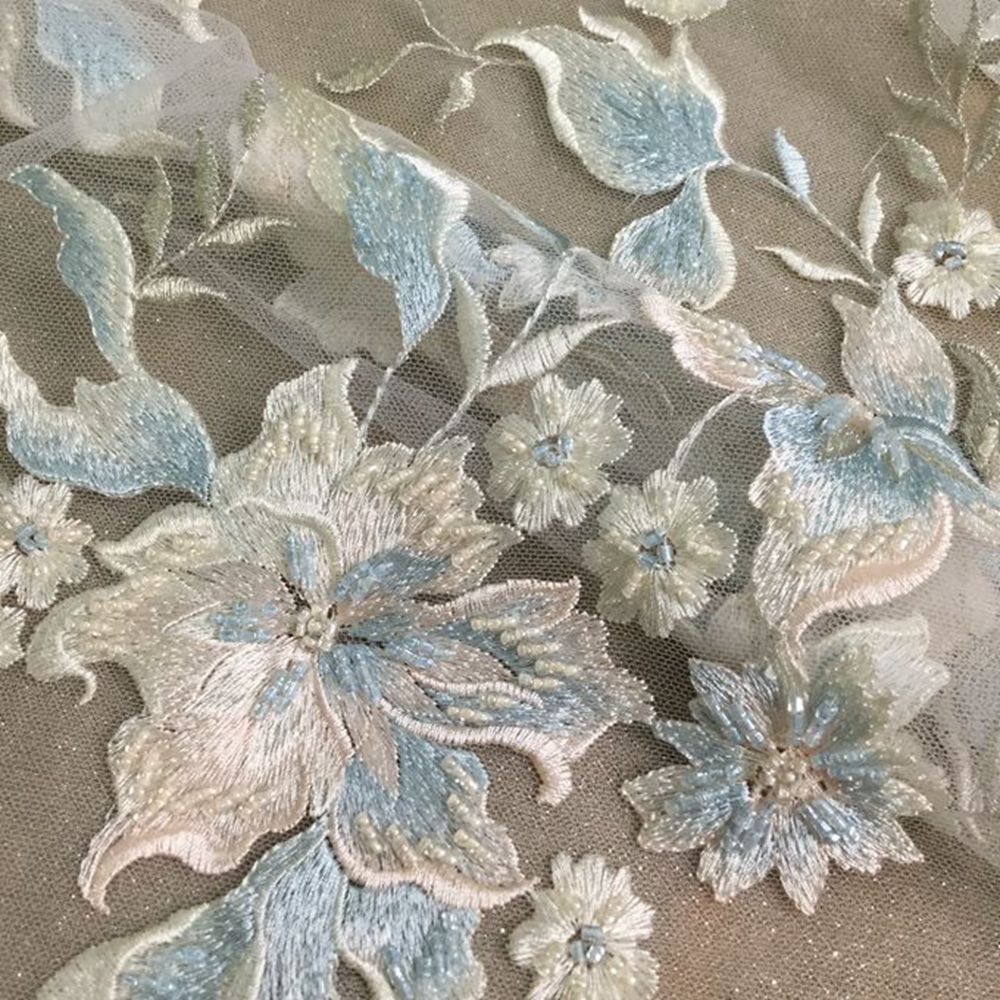 Hand Embroidery Flower Designs Fabric