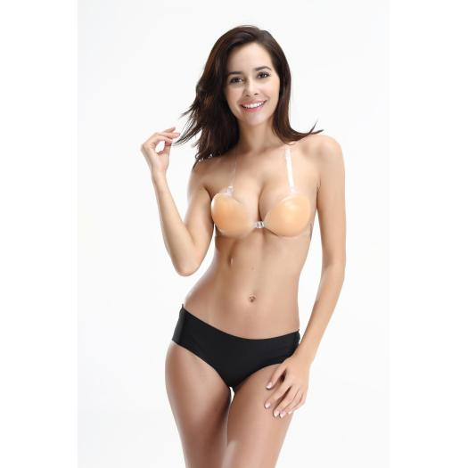 Adhesive Invisible  sexy push up Silicone Bra