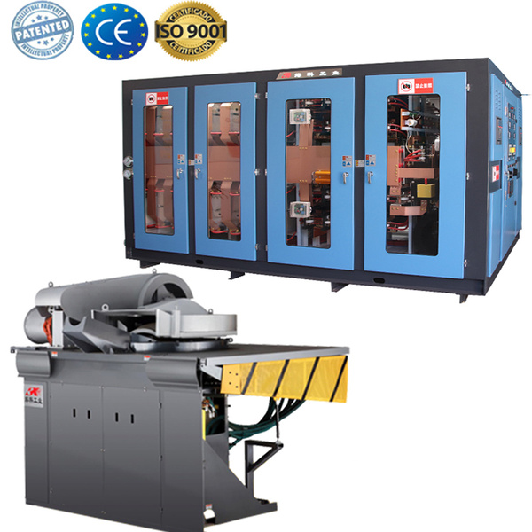 Medium frequency electric induction melting gold machine