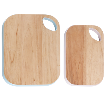 Rectangle wood cutting board with portable hole