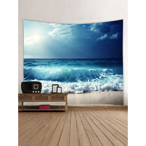 Tapestry Wall Hanging Ocean Sea Wave Beach Series Tapestry Blue Tapestry for Bedroom Home Dorm Decor
