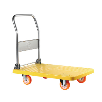 Yellow Folding Platform Trolley 300kg