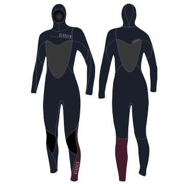 Seaskin Wetsuits Women's 5/4/3mm Hooded Chest Zip Fullsuit