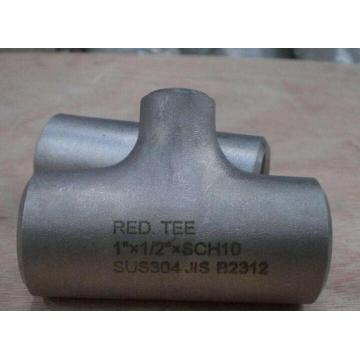 JIS B2312 SUS304 reducing tee