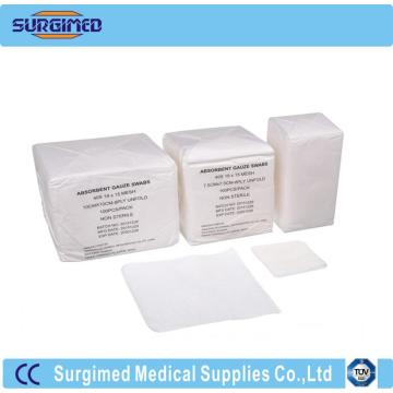 medical gauze swab cotton fold or unfold
