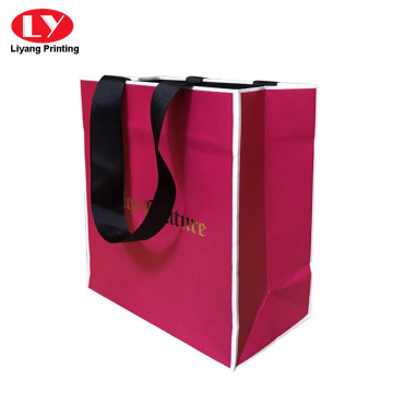 inside printed paper bag with foil logo