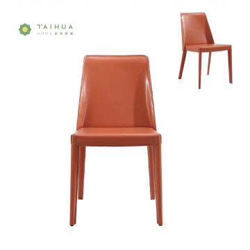 PU Dining Chair with Metal Frame