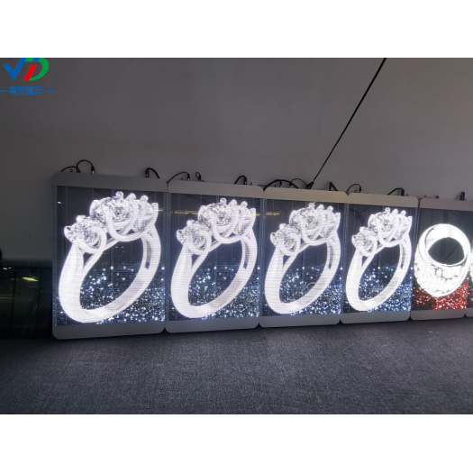 PH3.96-7.81Transparent LED Display with1000X500mm cabinet