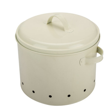 Large enamel potato container