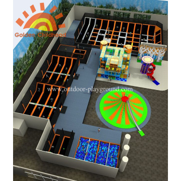 Custom Comprehensive Trampoline Park Playground