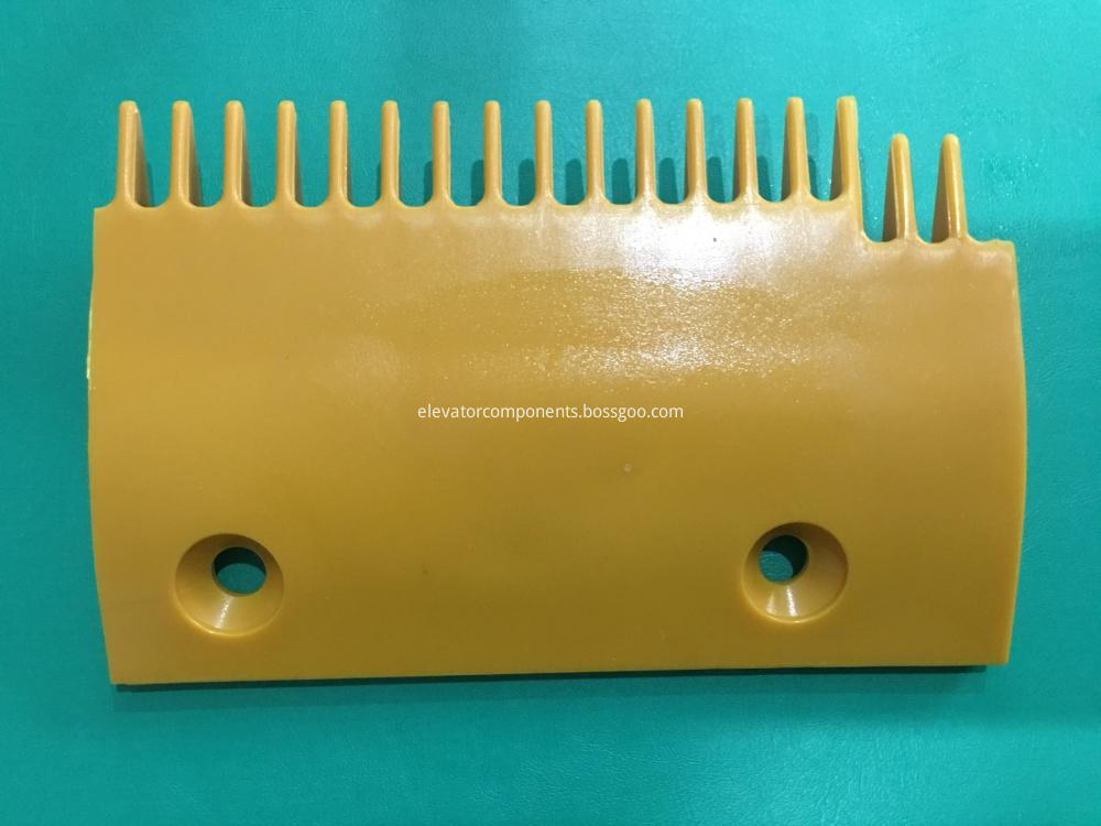 Right Yellow Plastic Comb for Sigma Escalators