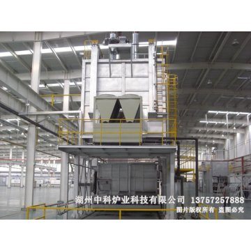 Aluminium heat treatment furnace