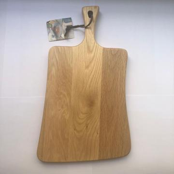 Oak wood cutting board with handle