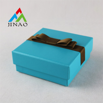 Tiffany Blue Paper Jewelry Box with Bowknot