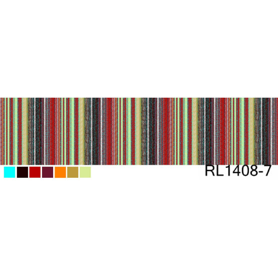 100% Polyester Print Fabric Multicolour Stripes