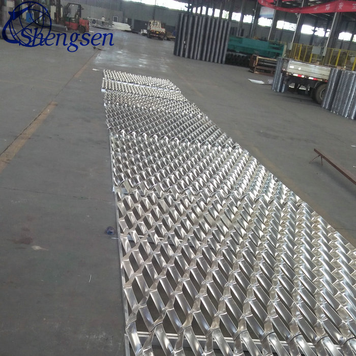 Perforated expanded metal mesh