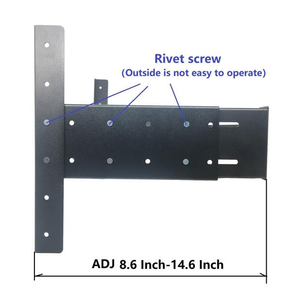 19 Inch 6U Dissassembled Wall Mount Bracket Extendable