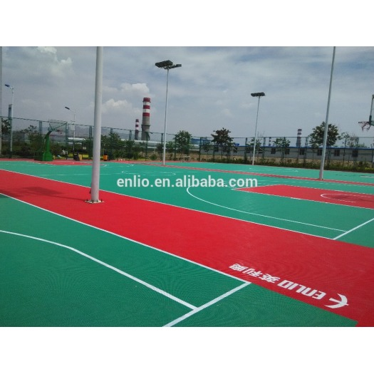 outdoor interlock Basketball Court Tiles