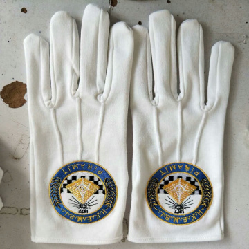 Ceremony Military Uniform Masonic Cotton Gloves White