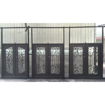 High Quality with Good Design Wrought Iron Entry Door