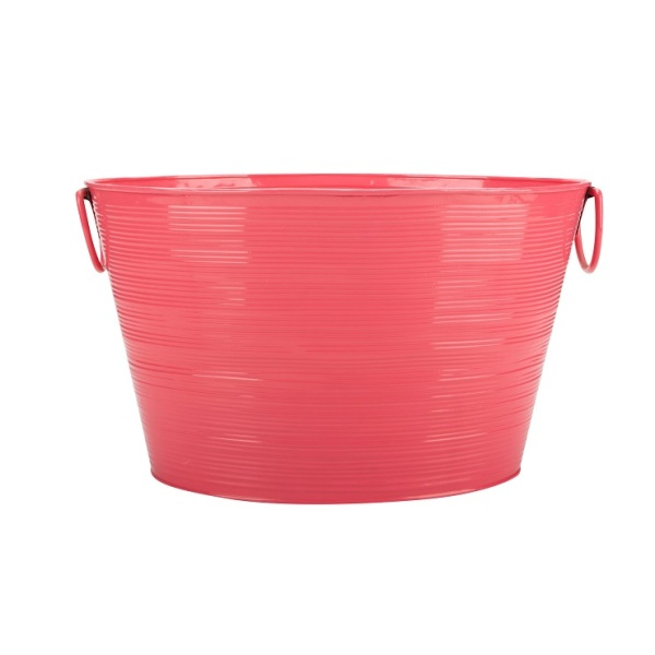 Cross Stripe PinK Large Party Ice Bucket
