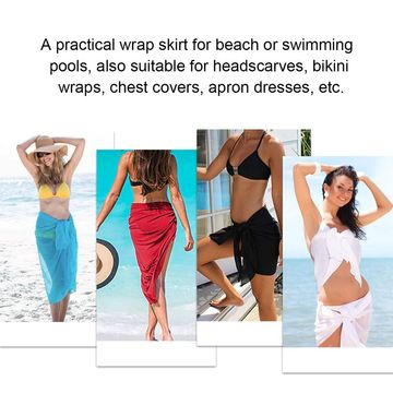 Women's Beach Wraps Chiffon Short Sarong Scarf Swimsuit