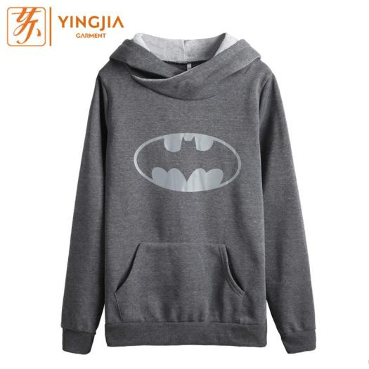 Fashion Round Neck Long-sleeved Bat Printing Hoodies
