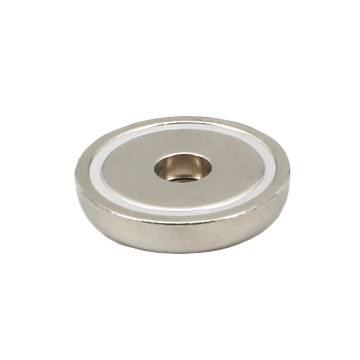 NdFeB Round Base Magnet Straight Hole Shaped