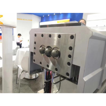 Three screw extruder machine