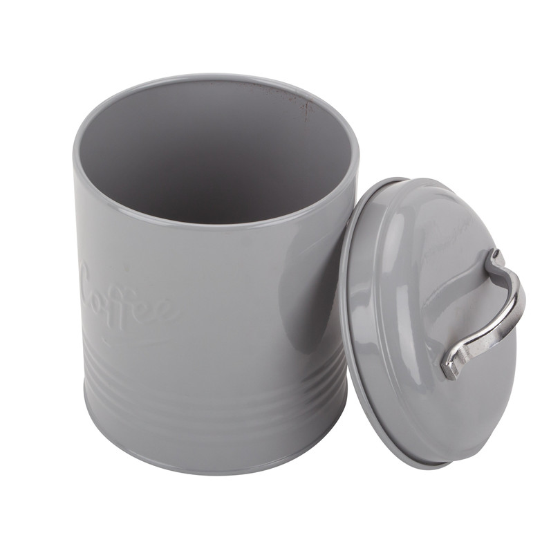 Grey tea sugar coffee canister