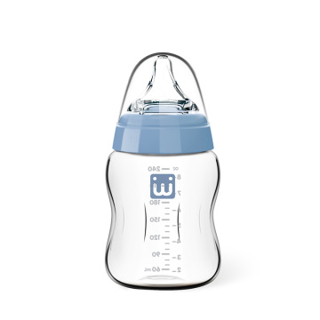 Infant Wide Neck Glass Feeding Bottle 240ml