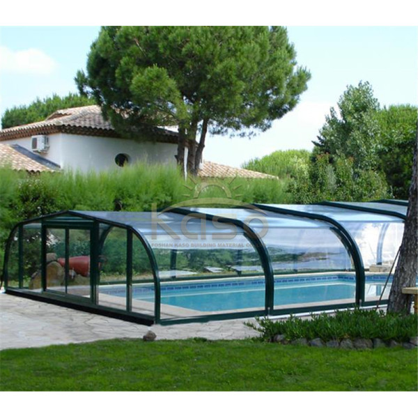 Roof Above Ground Artificial Grass Swimming Pool Cover