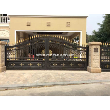 Custom Fancy Auto Wrought Iron Gate for Luxury House