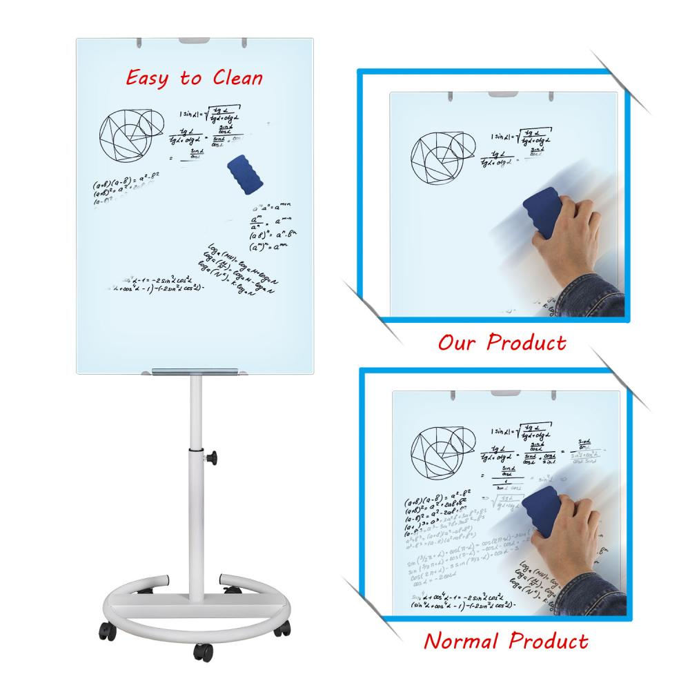 Office magnetic glass flipchart easel