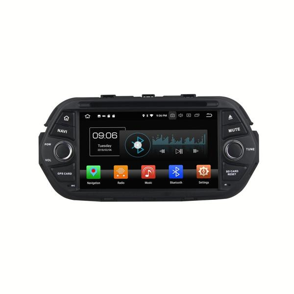 Android 8.0 car audio accessories for EGEA 2016 with DSP CAR PLAY PARROT BLUETOOTH