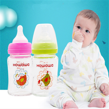 5oz Glass Infant Feeding Bottle Without Handle