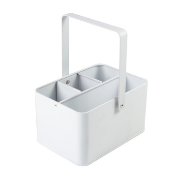 Rectangle Four Compartment  White Nice Ice Bucket