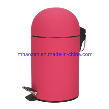 Stainless Steel Pedal Trash Can, Dustbin with Half Round Lid