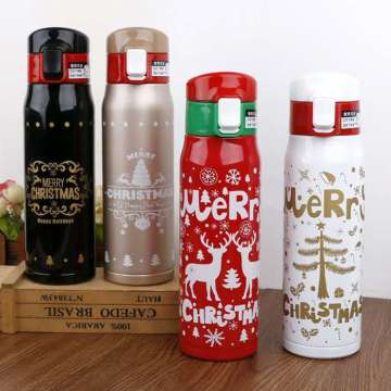 Outdoor Travel Vacuum Flask Stainless Christmas Thermos