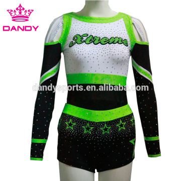 off the shoulder stars cheer dance costume