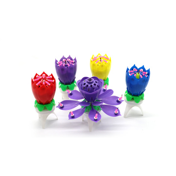 lotus music wholesale birthday flower cake candle