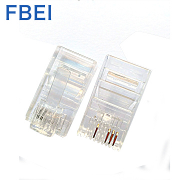 RJ45 plug crystal head 8P4C connector