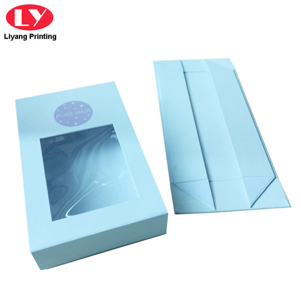 White Magnetic Cardboard Gift Box Window Lid